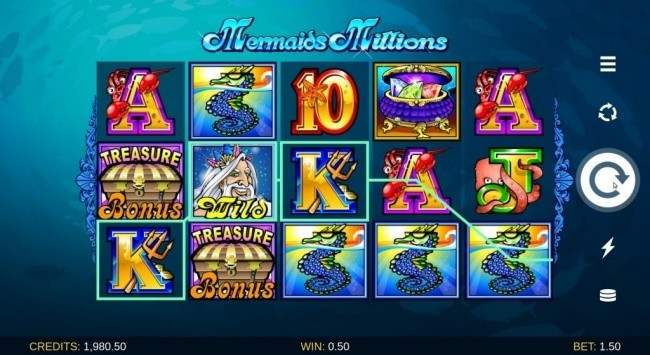 mermaids millions 15paylines